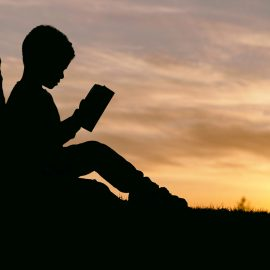 reading-outside by .